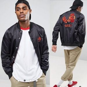 Obey embroidered viktor bomber jacket